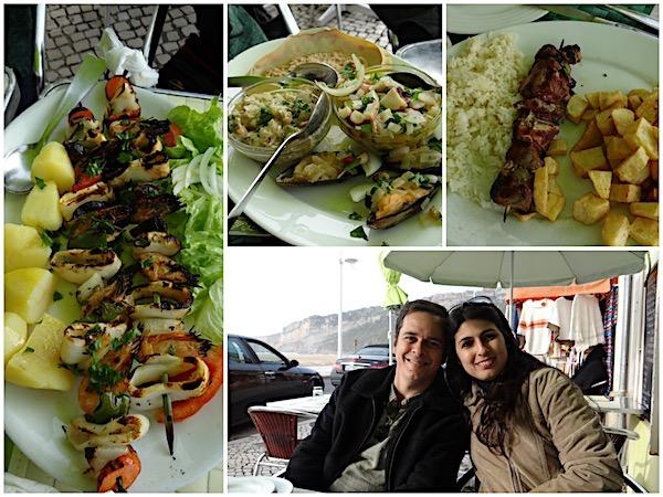 Almoçando em um dos restaurantes da orla