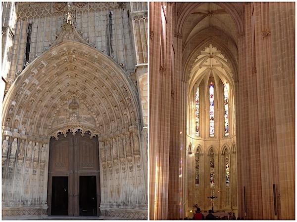 A entrada principal e o altar