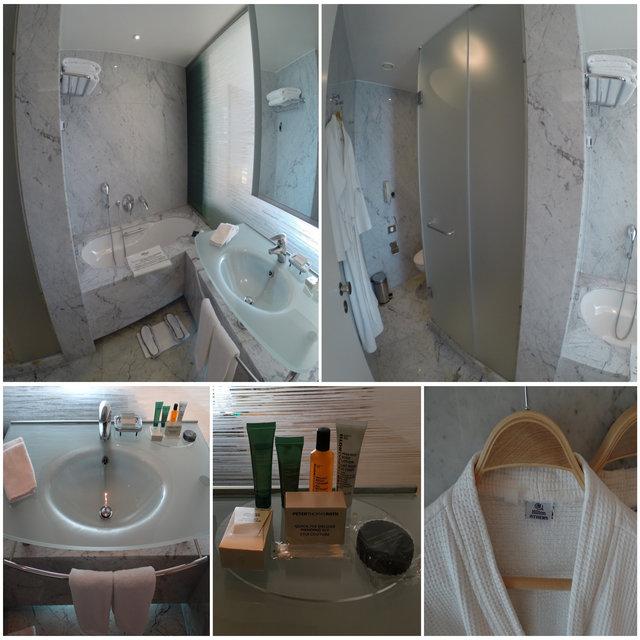 Banheiro hotel Hilton Atenas