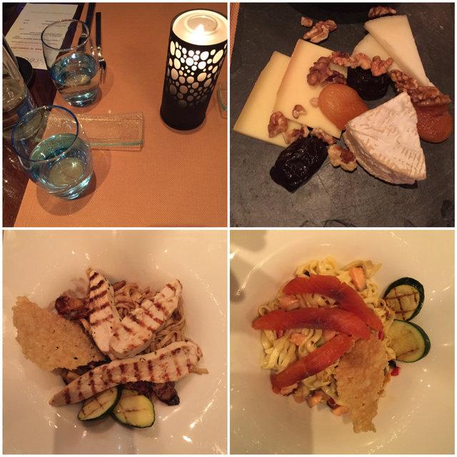 Jantar no restaurante Teseo