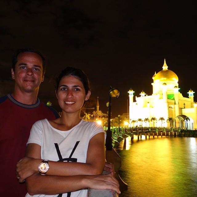 Éramos um dos poucos turistas no Sultanato de Brunei!