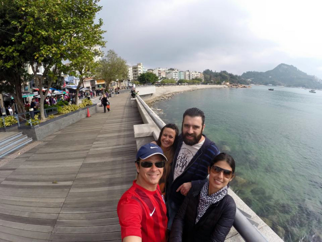 Fazendo amizade em Hong Kong!