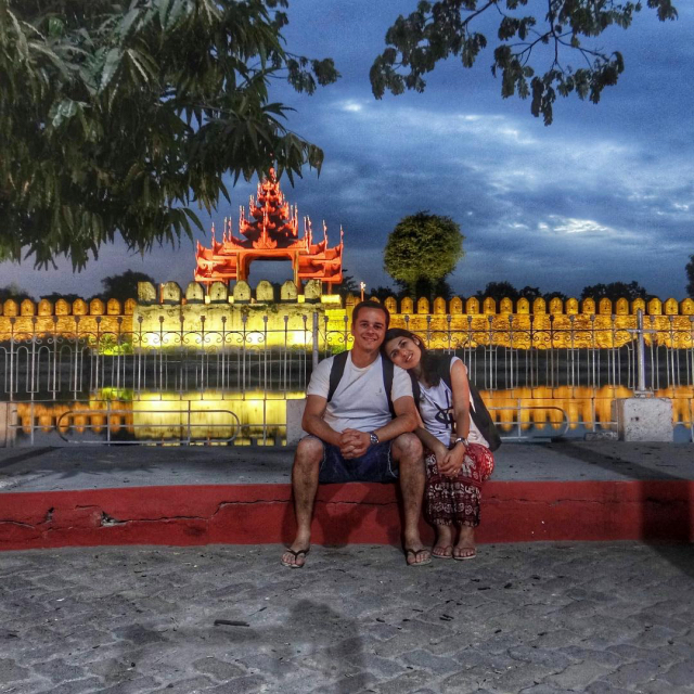 Primeiro dia de 2015 em Mandalay, Myanmar