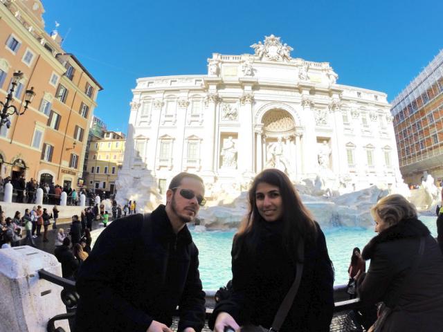 A gente sempre dá uma passadinha na Fontana di Trevi!
