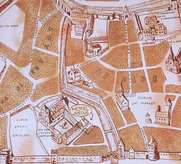 Mapa Hotel Justus