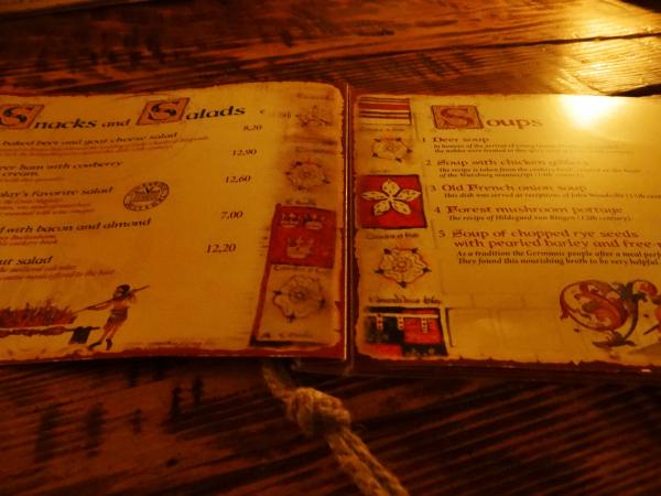 Menu Ruzengrals Restaurante Medieval