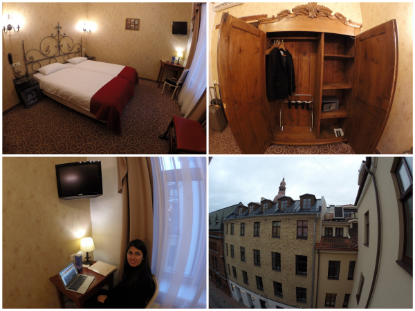 Quarto do Hotel Justus