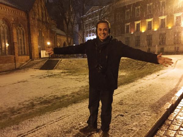 Snow in Riga