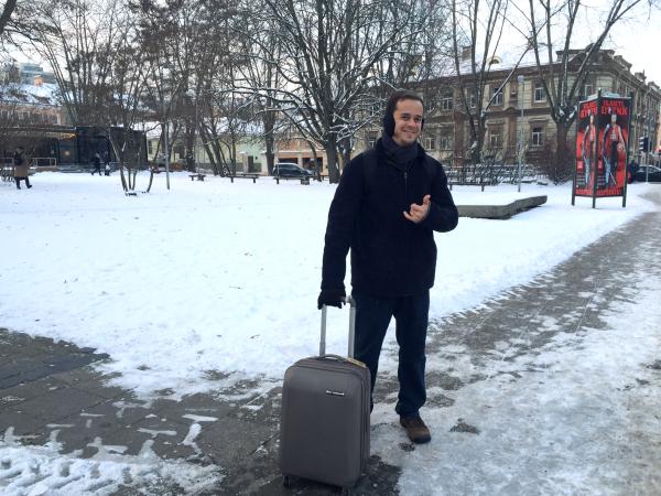 Chegada a Vilnius