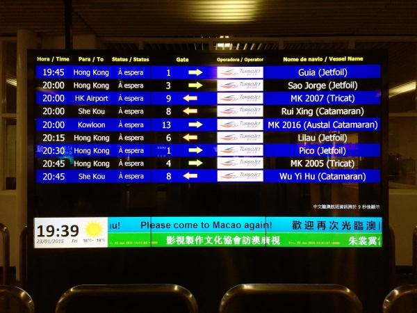 Ferries para Hobg Kong