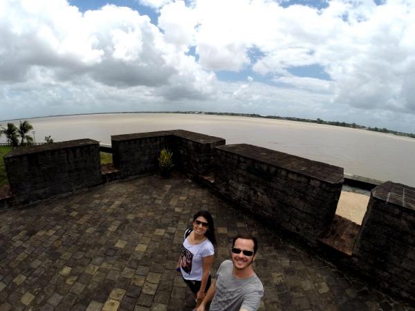 A vista para o Rio Suriname