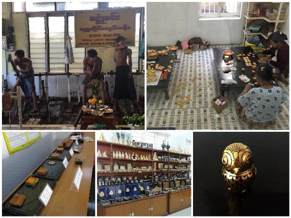 King Galon Gold Leaf Workshop Mandalay