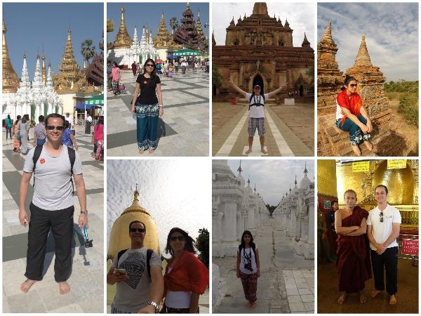 Roupas Templos de Myanmar