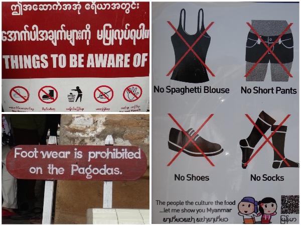 Roupas proibidas nas Pagodas