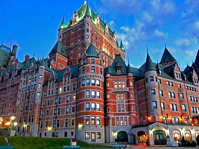 Chateau Frontenac principais pontos turísticos do Canadá