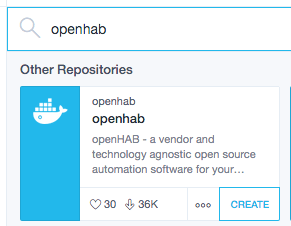 docker openhab image officielle