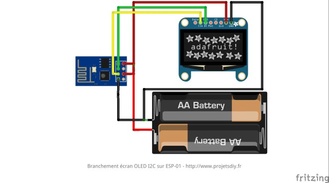ESP-01 ESP8266 OLED i2C DISPLAY ECRAN