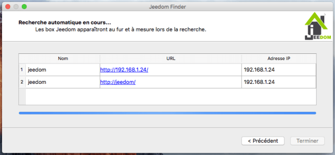 jeedom finder decouverte reseau adresse ip