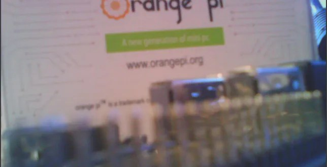 orange pi lite camera 2MP opencv python live preview