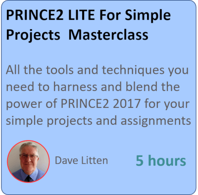 PRINCE2 LITE – Managing Small Projects with PRINCE2 PRINCE2