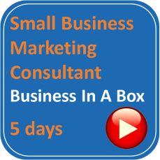 small business marketing consultant square logo