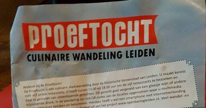 Natte maar culinaire Proeftocht in Leiden