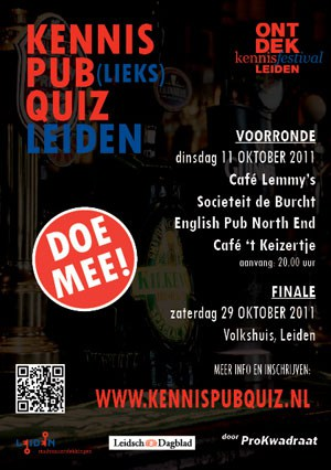 Hoe slim is Leiden: KennisPub(lieks)Quiz Leiden
