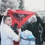 Digjet flamuri shqiptar ne maqedoni
