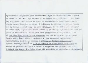 Kopje nga padia gjyqësore e Edvin Ramës ndaj ish bashkëshortes së tij M.M në vitin 1987