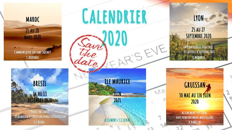 Nouvelles dates de formations pour 2020