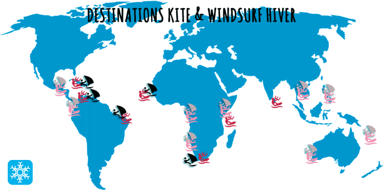 Destinations Kite et windsurf hiver