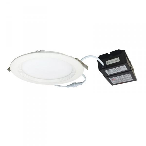 nora lighting 6 13 5 watt thin led recessed downlight dimmable 27k 3k 35k 800 lumens 120v