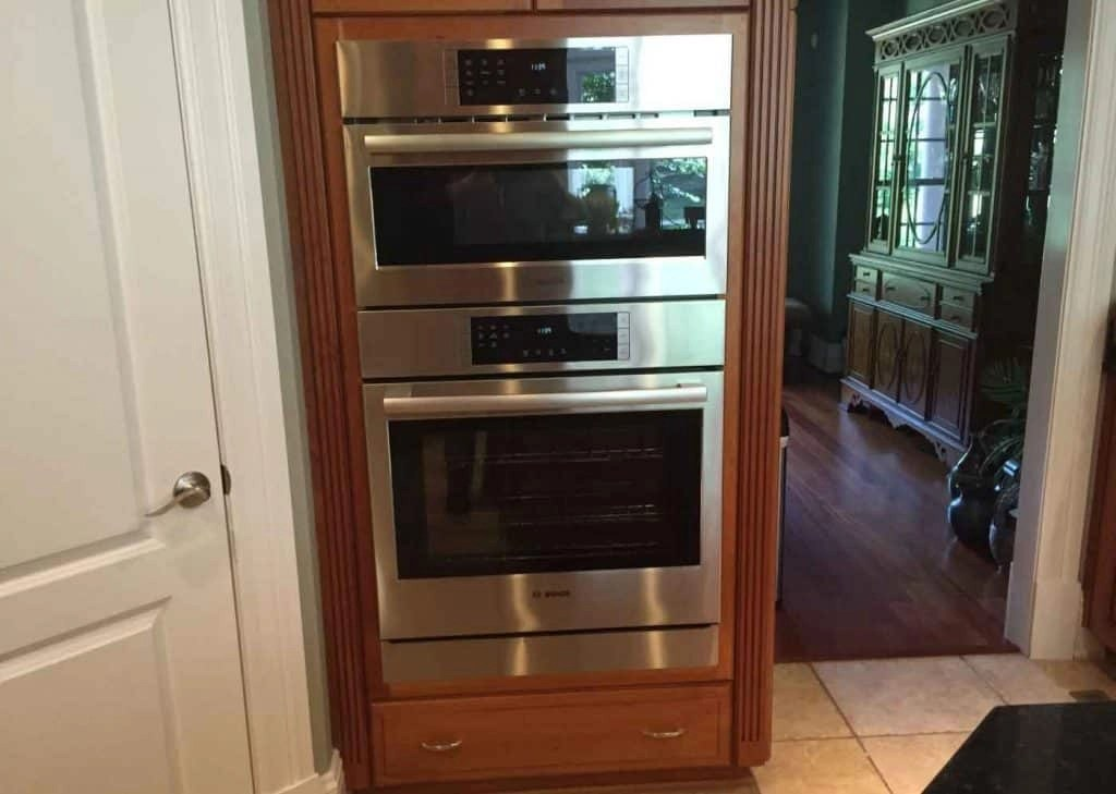 replacing double wall oven with a
