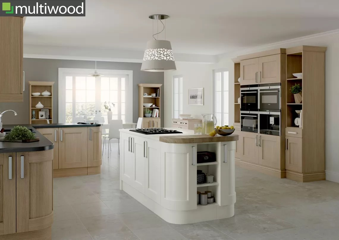 Multiwood Bowfell Oak & Cream Kitchen