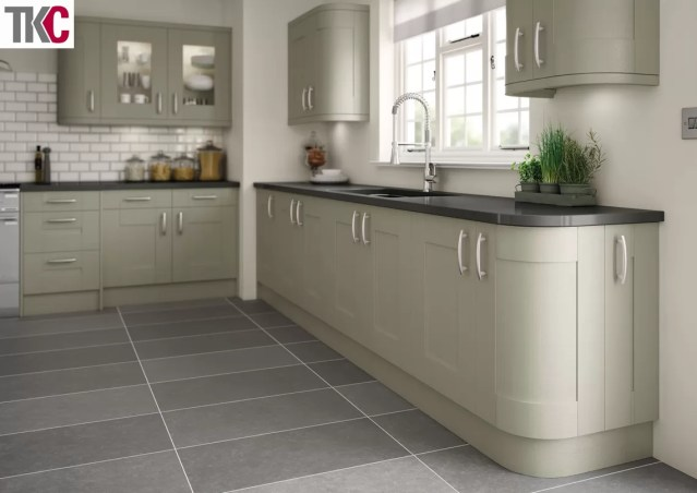 TKC Cartmel Hand Painted Olive Kitchen