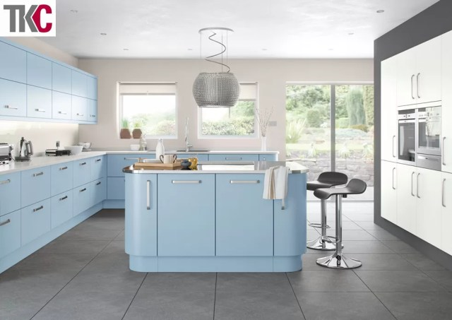 TKC Imola Hand Painted Blue Kitchen