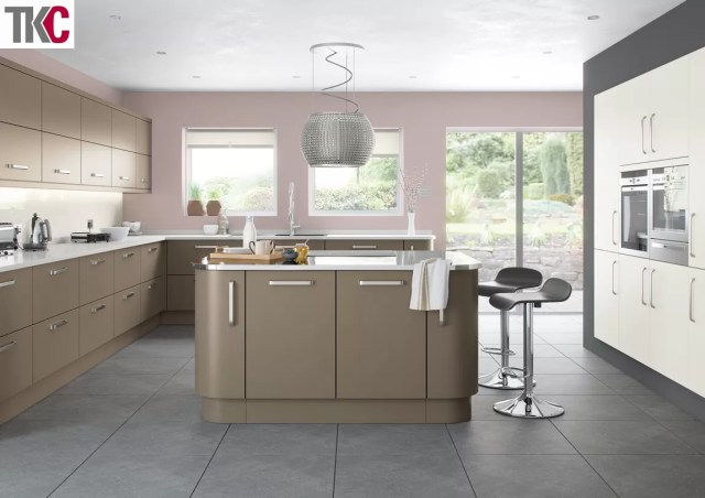 TKC Imola Hand Painted Brown Grey Kitchen