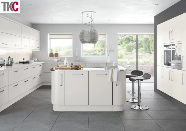 TKC Imola Hand Painted Light Grey Kitchen
