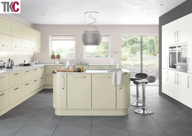 TKC Imola Hand Painted Sage Green Kitchen