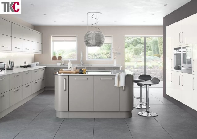 TKC Imola Hand Painted Silver Grey Kitchen