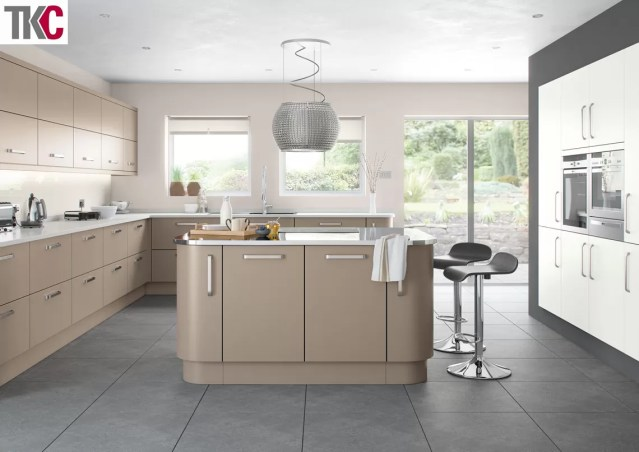 TKC Imola Hand Painted Stone Grey Kitchen