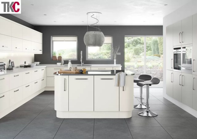 TKC Imola Hand Painted White Kitchen