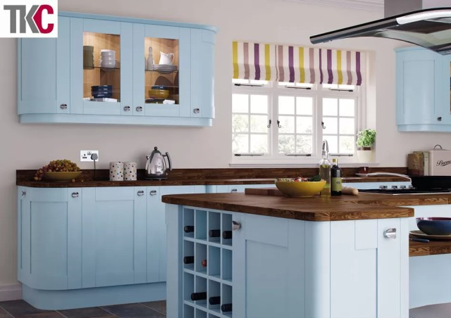 TKC Richmond Hand Painted Blue Kitchen