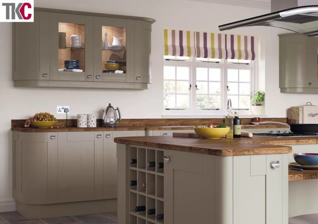 TKC Richmond Hand Painted Brown Grey Kitchen