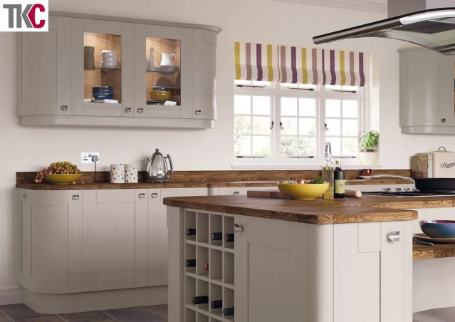 TKC Richmond Hand Painted Stone Grey Kitchen