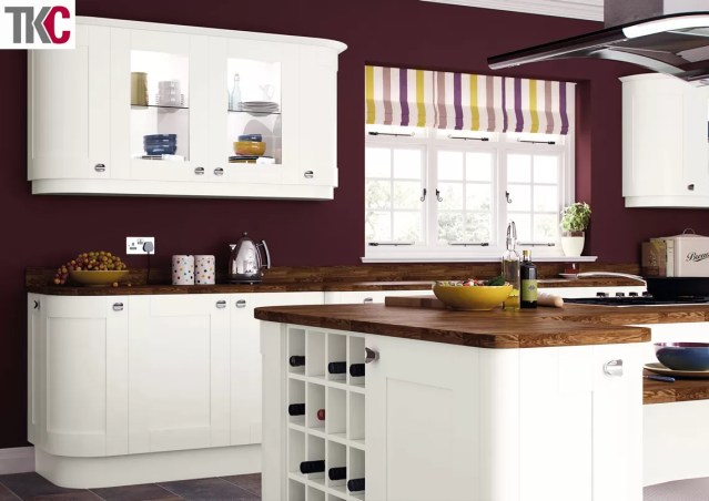 TKC Richmond Hand Painted Super White Kitchen
