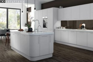 Trademouldings Aura Dove Grey Kitchen
