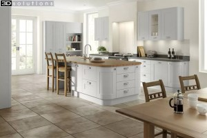 Trademouldings Boston Dove Grey Kitchen