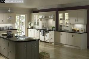 Trademouldings Gresham Ivory and Olive Island Kitchen