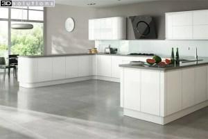 Trademouldings Larissa Handleless Gloss White Kitchen